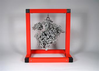 Aluminum Fire Ant Colony Cast #020 - Front Picture.