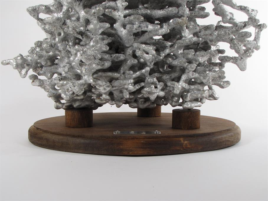 Aluminum Fire Ant Colony Cast #025 - Base Front Picture.