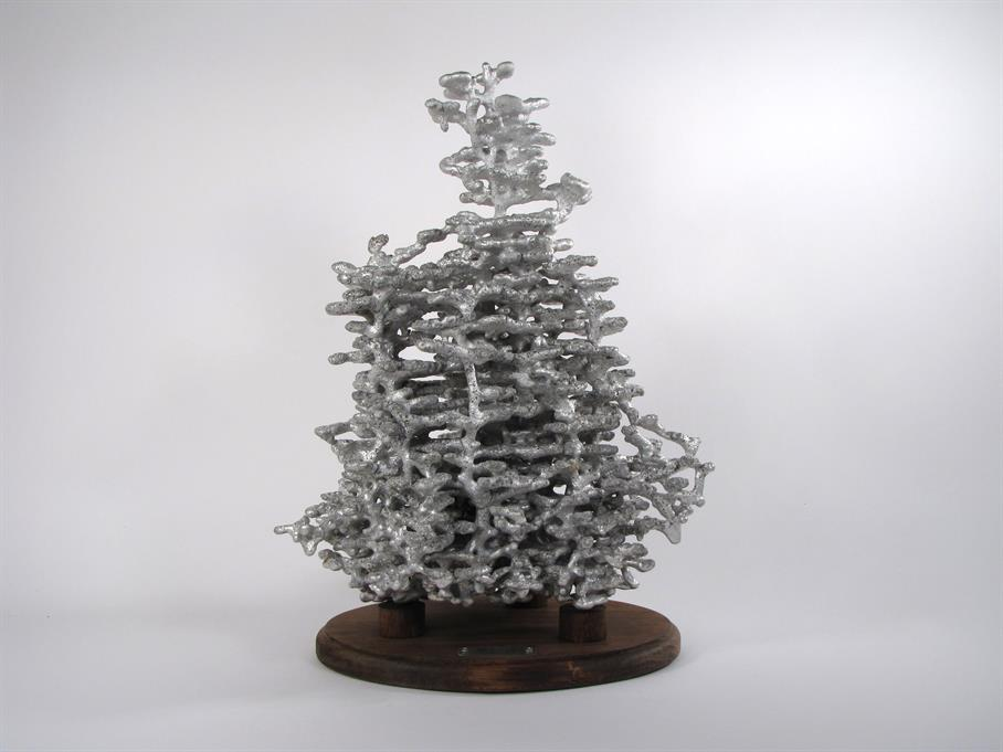 Aluminum Fire Ant Colony Cast #025 - Front Picture.