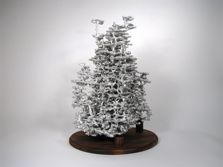 Aluminum Fire Ant Colony Cast #043 - Back Picture.
