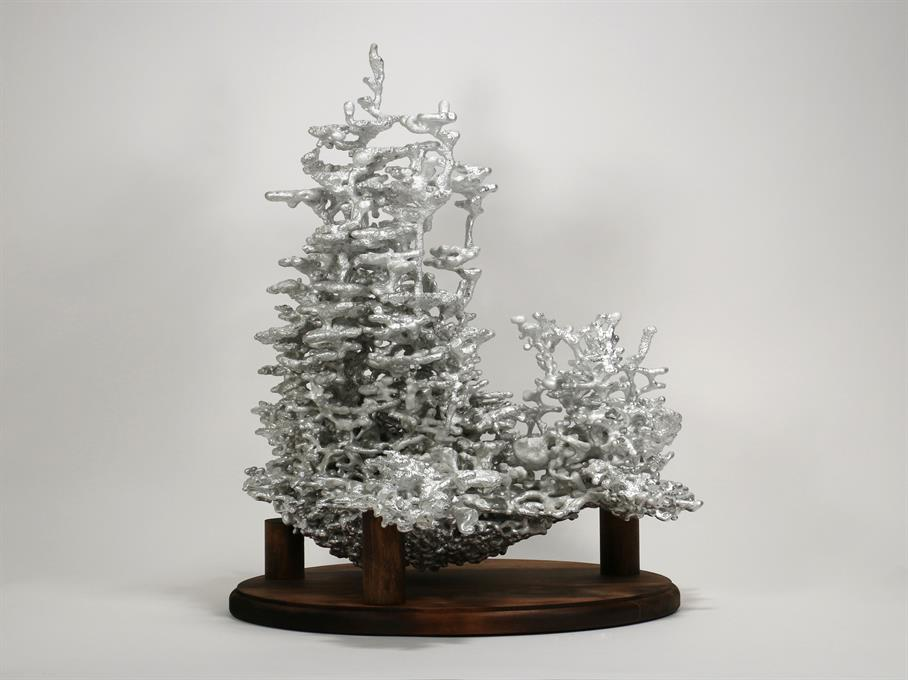 Aluminum Fire Ant Colony Cast #067 - Front Picture.