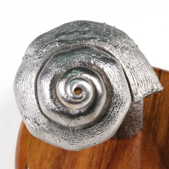 Aluminum  Seashell Cast #094 - Spiral Picture.